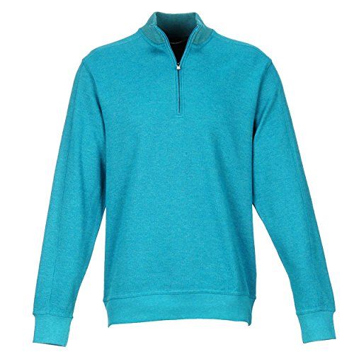 Greg Norman mens Contemporary 1/4 Zip Pullover, Starboard Heather,