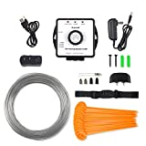 PetsN'all | 27000 sqft | Invisible Pet Fence System In-Garden Pet Barrier Control Dog Fence System Underground Dog Fence Containment System with Water Resistant Electric Dog Collar & Transmitter