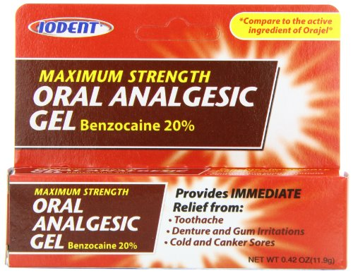 Oral Gel Analgésique Maxium Force 20% de benzocaïne 0,42 oz