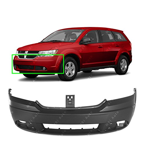 MBI AUTO - Primered, Front Bumper Cover Replacement for 2009-2018 Dodge Journey 09-16, - Dodge Front Cover