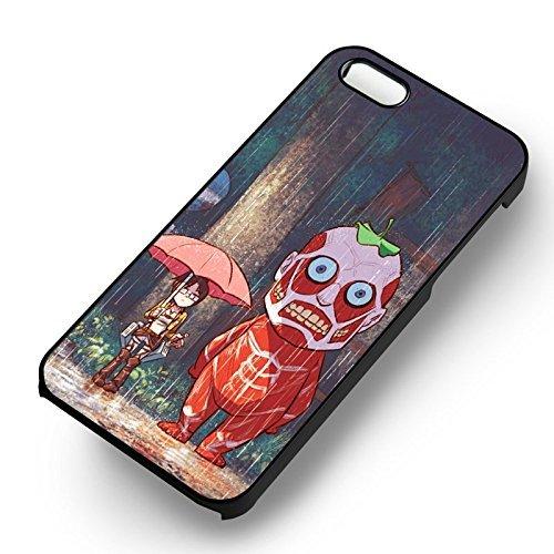 Attack On Titan Shingeki No Kyojin pour Coque Iphone 6 et Coque Iphone 6s Case (Noir Boîtier en plastique dur) J1N5RP