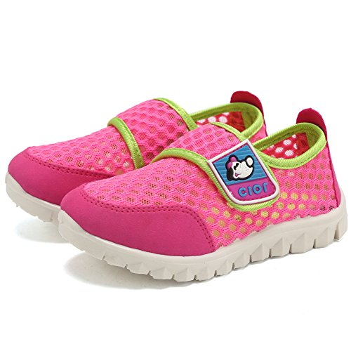 CIOR Kid's Mesh Lightweight Sneakers Baby Breathable Slip-On For Boy and Girl's Running Beach Shoes(Toddler/Little Kid) 2