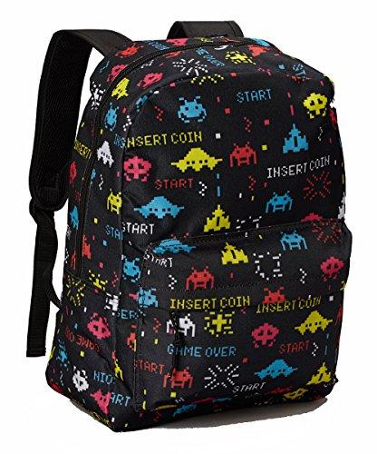 Backpack Book Bag School Food Animal Print Photo 3d (Video Game)