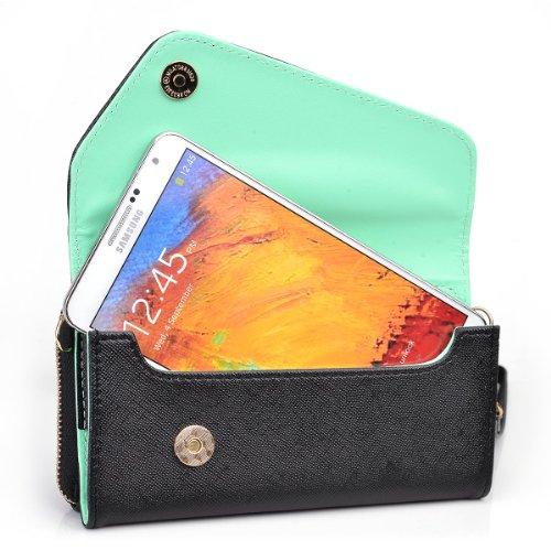 Kroo Urban Black / Mint Wallet for Samsung Galaxy E5 | S4 | S5 Plus | S5 Active | S5 Sport | Octa-core | Alpha | S6