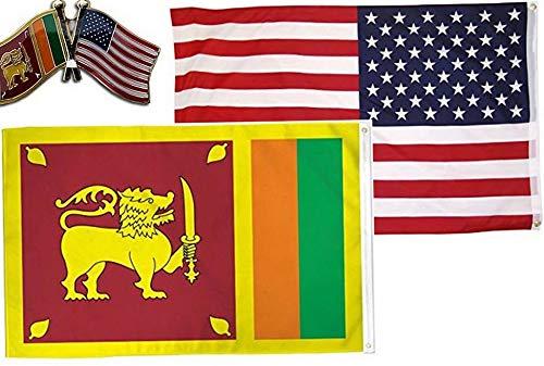 (Mikash Wholesale Combo USA Sri Lanka Country 3x5 3вЂx5†Flag Friendship Lapel Pin   Model FLG - 2797)