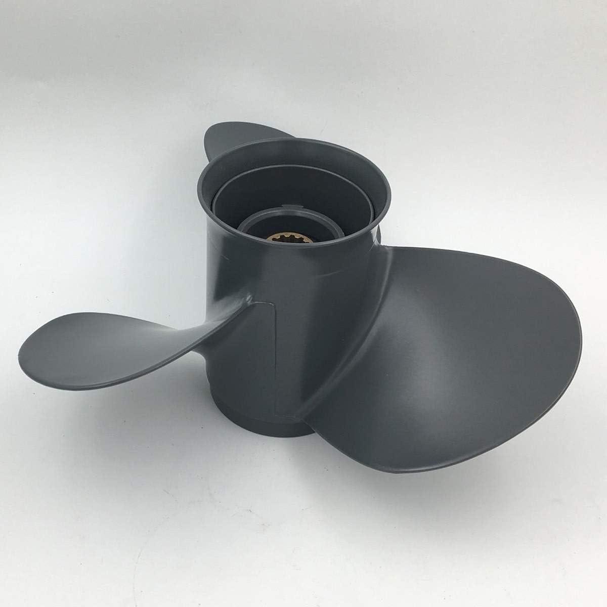 4x13 3 Cuchillas fuerabordas bot/ín propulsor Motores Marino h/élice Aluminio aleaci/ón 11 1 Apto para HON.DA 35-60H P 58130-ZV5-000ZA