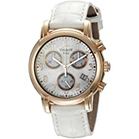 Tissot T-Classic Dressport Chronograph Womens Watch (Mother of Pearl White)