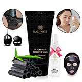 Magiforet Blackhead Peel Off Mask, Blackhead Remover Mask, Purifying Peel-off Mask Deep Cleansing Black Mask For Face Nose Acne Treatment Oil Control 60g Along with Rosewater Spray 30ml