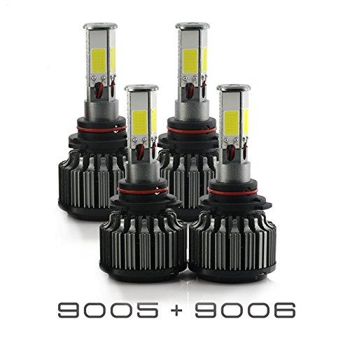 2009 Combo - 9005+9006 Combo 240W 24000LM LED Headlight Kit High & Low Beam Light Bulbs 3 Year Warranty