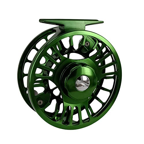 (Riverruns Z Fly Fishing Reel Super Light CNC Machined Second Generation Sealed Carbon Disc Super Larger Arbor 3/5, 5/7, 7/9 Ideal Both Fresh Water & Saltwater Fly Fishing (Green, 7/9))