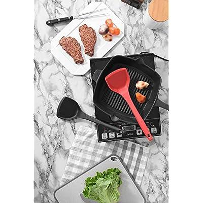 Silicone Shovel Non-stick Heat Resistant Cooking Spatulas Kitchen Utensil: Kitchen & Dining