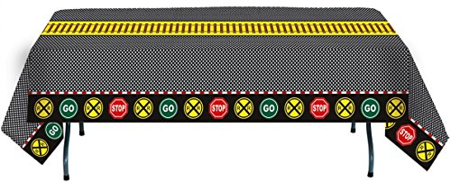 "Train Party Table cover (54"" x 108"", Paper, Water and Tear Resistant) Railroad Transportation Party Collection by Havercamp"