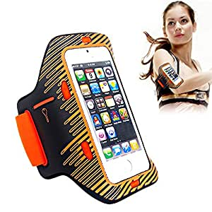 Generic Sports Outdoor Armband Case with LED lights for Apple iPhone 5, 5S Orange