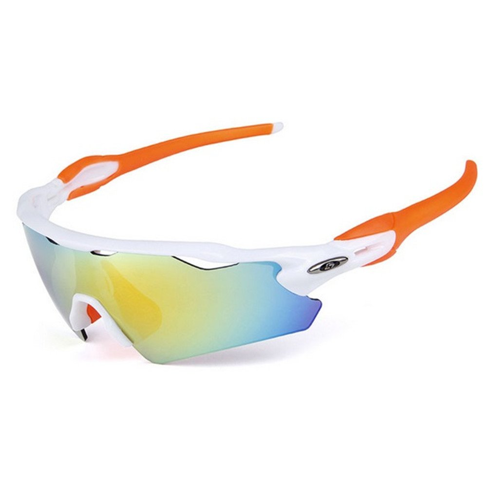 Lorsoul UV400 Polarized Sunglasses Sports Glasses with 5 Interchangeable Lenses for Men Women Outdoor Sports Cycling Golf Fishing Baseball Running