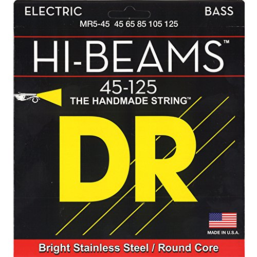 DR Strings Hi-Beam - Stainless Steel Round Core Medium 5 String 45-125