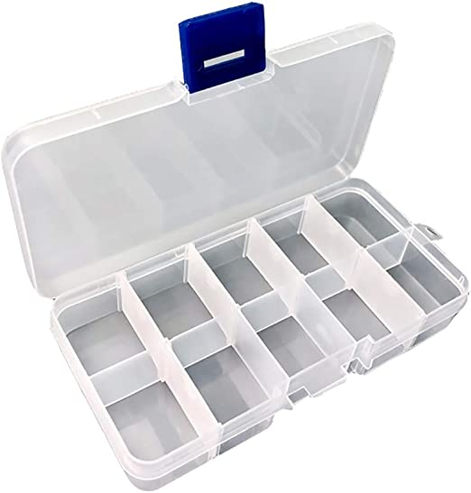 Akelizeng Caja organizadora de plástico, Caja separadora para ...