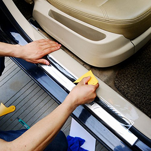 Moyishi 6 by 60 Inches Clear Door Sill Paint Protection Scratch Film Vinyl Sheet AESDRS01