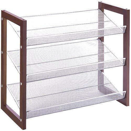 Organize It All 3 Tier Wood Frame Shoe Storage Rack Neu Home 17053W-1