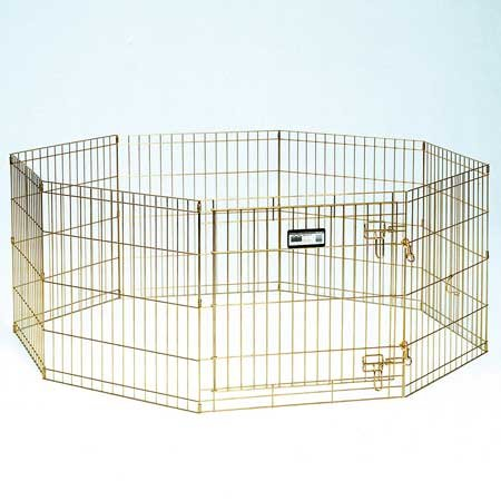 Midwest Gold Zinc Pet Exercise Pen 8 panels Gold 24″ x 48″