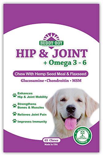 All-Natural-Hip-and-Joint-Chew-With-Hemp-Glucosamine-and-Chondroitin-for-Dogs-For-Healthy-Hips-Joints-Bacon-Flavored-Proudly-Made-in-the-USA-by-Buddy-Boy-Premium-Pet-Food