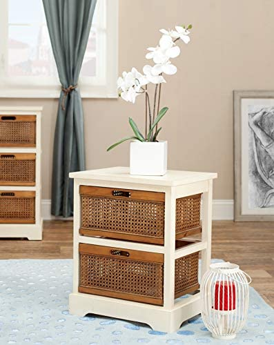 Safavieh American Homes Collection Jackson Barley and Cane 2-Drawer Storage Cabinet