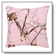 Realtree AP Pink Square Throw Pillow