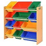 Toy Bin Organizer Kids Children Storage Box Playroom Bedroom Shelf Drawer