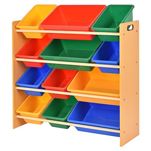 Toy Bin Organizer Kids Children Storage Box Playroom Bedroom Shelf Drawer by Lotus Analin (Image #1)
