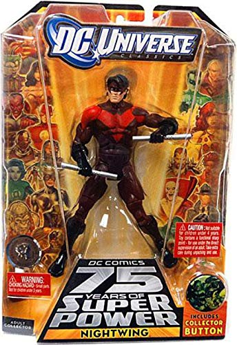 (DC Universe Classics 75 Years of Super Power Action Figure Nightwing Includes Collector Button Red Variant by DC Comics)