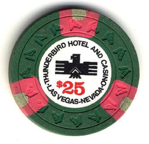 Thunderbird Casino Las Vegas NV $25 Chip 1948 - 1976