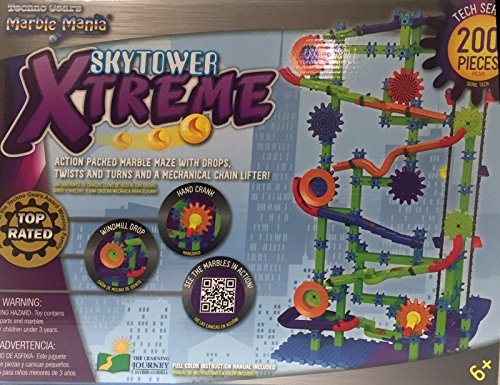 The Learning Journey Techno Gears Marble Mania Extreme Construction Set 200 pieces by Techno Gears Marble Mania