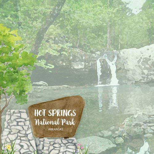 Scrapbook Customs 39098 Hot Springs National Park Watercolor Arkansas 12 Inch x 12 Inch Double-Sided Scrapbook Paper - 1 Sheet