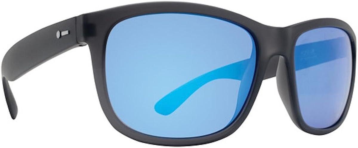 Dot Dash POSEUR Soft Charcoal Satin Ice Blue Chrome Sunglasses