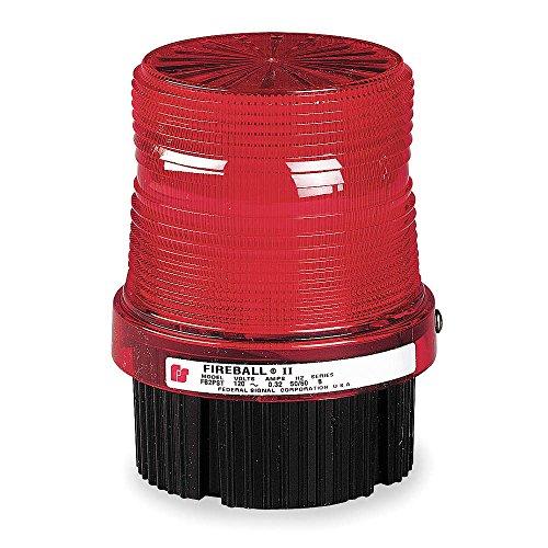 Federal Signal FB2PST-012-024R Fireball Strobe Warning Light, Single Flash, 1/2