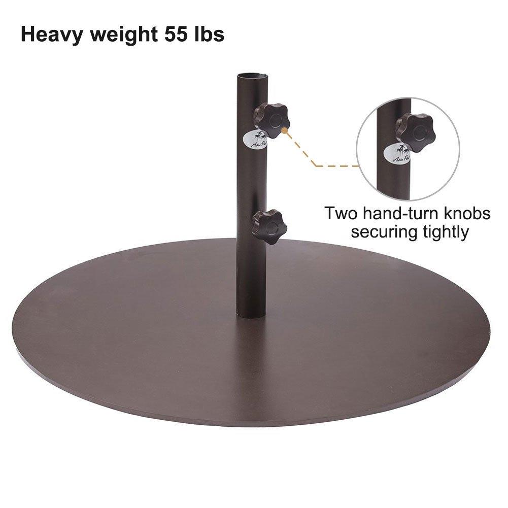 Abba Patio 27.4'' Umbrella Base Patio Umbrella Steel Stand Weights, 55 lbs, Brown