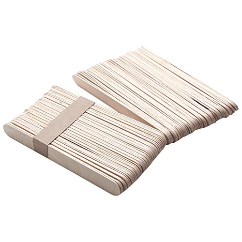 Putars Portable Multifunction 50PCS Wooden Body Hair Removal Sticks Wax Waxing Disposable Sticks White