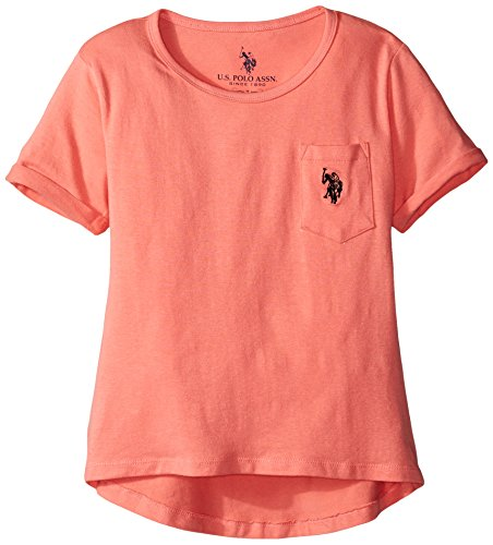 us-polo-association-big-girls-hi-lo-scoop-neck-pocket-t-shirt-shell-pink-8-10