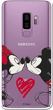 Funda para Samsung Galaxy S9 Plus Oficial de Clásicos Disney Mickey y Minnie Beso para Proteger tu móvil. Carcasa para Samsung de Silicona Flexible con Licencia Oficial de Disney.: Amazon.es: Electrónica