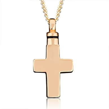 Amazon lovelyjewelry cremation gold cross urn necklace lovelyjewelry cremation gold cross urn necklace memorial keepsake pendant for ashes mozeypictures Images