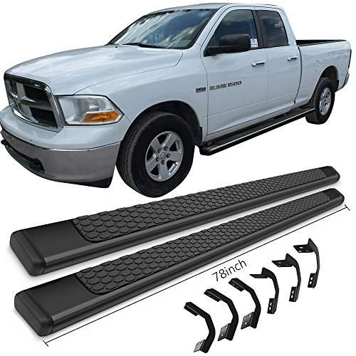 Running Boards Fits 2009 2018 Dodge Ram Quad Cab Ram Oe Style Black Stainless Steel 78inch Side Step Bars Nerf Bars By Ikon Motorsports 2010 2011 2012 2013 2014 2015 2016 2017