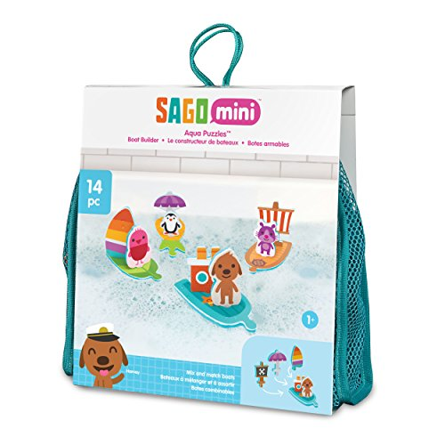 Sago Mini Aqua Puzzles Boat Builder Bath Toy for (Builder Plush Toy)