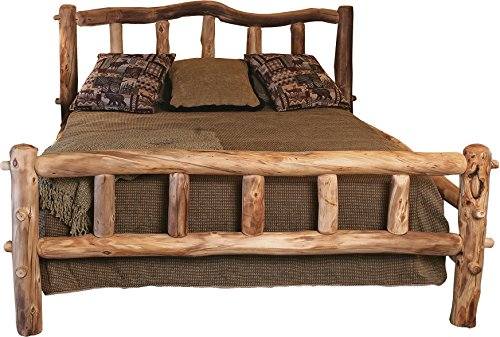 Mountain Woods Furniture Aspen Grizzly Collection Snowload I Bed, King, Poly ()