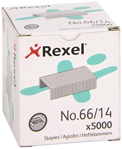 - Rexel No. 66 14mm Heavy Duty Staples 100 Sheet Capacity (Pack of 5000)