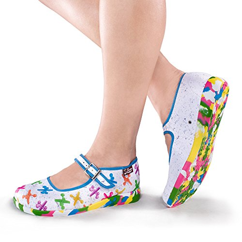 Hot Chocolate Design Chocolaticas Jax Women's Mary Jane Flat Multicoloured zhfvzbZ