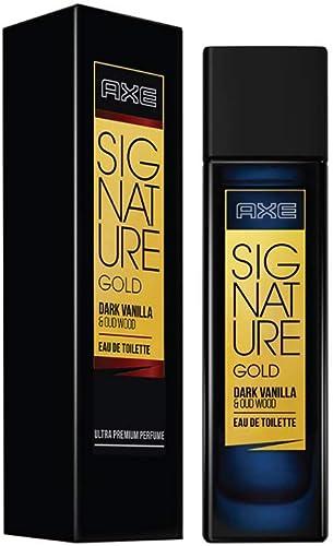 6. AXE Signature Gold Dark Vanilla and Oud Wood Perfume