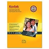 "Kodak Ultra Premium Photo Paper for inkjet printers, Gloss Finish, 10.7 mil thickness, 25 sheets, 8.5"" x 11"" (8366353)"