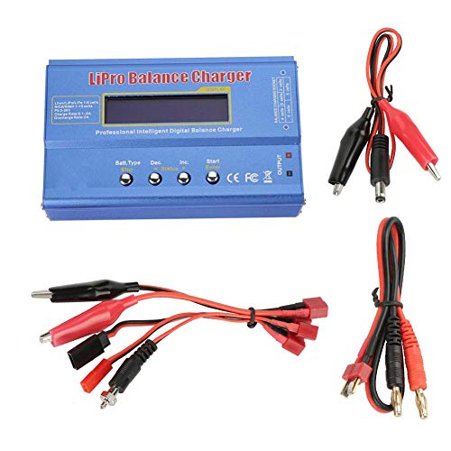 - Balance Charger, Blue NIMH Nicd Battery Plastic Model Balance Charger Power Adapter with LCD Screen
