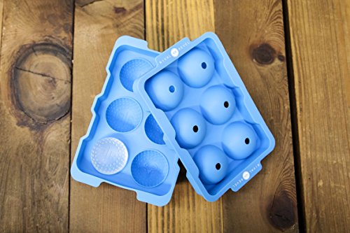 "Price comparison product image Rival and Revel R|R Rocks 6 Ball Tray - Golf Ball Ice Maker, Cool Blue, 6.75"" x 4.5"" x 2"""