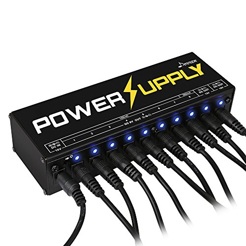 donner dp 1 guitar pedal power supply 10 isolated dc output for 9v 12v 18v effect pedal buy. Black Bedroom Furniture Sets. Home Design Ideas