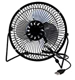 """Performance Tool W1663 6"""" Outlet 6 Inch Blades, Airflow, Low Noise, Metal Design, USB Powered, Personal Table, Mini Cooling, Small Desk, Quiet Office Fan"""